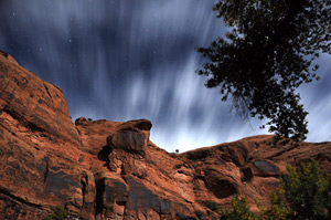 Stars and Clouds above Poison Spider Mesa - Moab